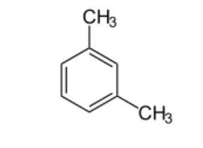 ساختار شیمیایی اورتو زایلین که در پیوند های خود شامل پیوند های دوگانه است