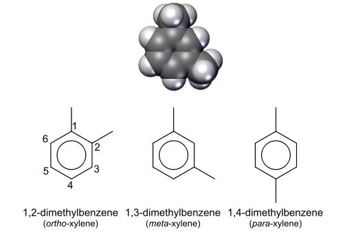 مخلوط زایلین شامل سه ایزومر مخلوط است
