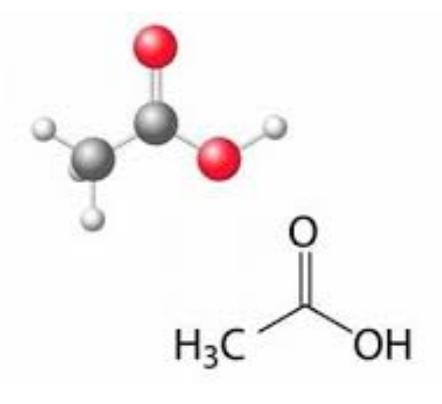 ساختار و ویژگی های اسید استیک
