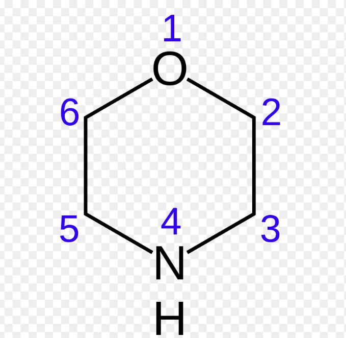 شکل ساختاری مورفولین